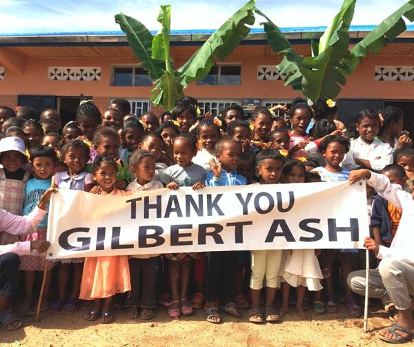Manankasina Celebrates New School thanks to Gilbert-Ash