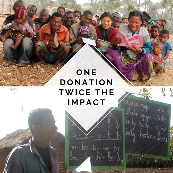 One Donation. Twice The Impact.